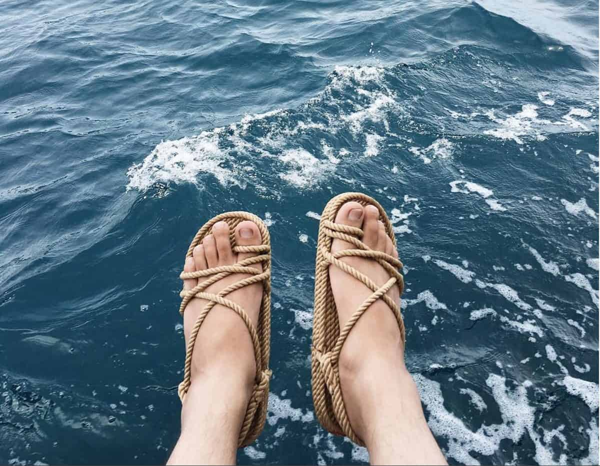 comfortable unique rope sandals